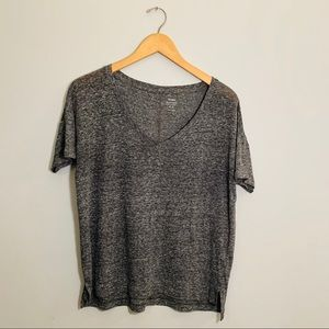 OLD NAVY Size S Gray Boyfriend Tee